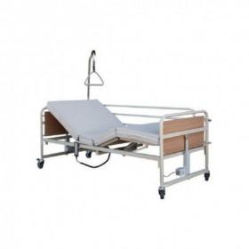 Νοσοκομειακό ηλεκτροκίνητο κρεβάτι μεταβλητού ύψους με ρόδες – Πολύσπαστο – PRATO 4