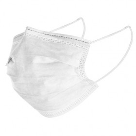 Μάσκα προσώπου μιας χρήσης λευκή,10τεμ