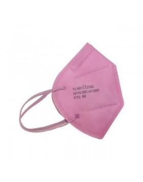 Μάσκα Προστασίας KN95 Ροζ χρώμα FFP2 1τμχ